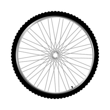 roue de vélo isolé sur blanc Vecteurs