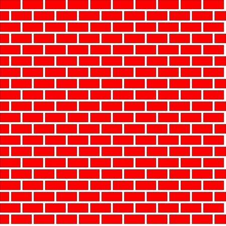 Seamless brick wall background, vector eps10 illustration. Vector