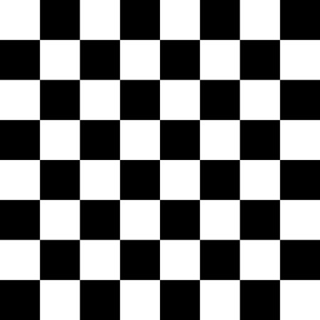 gamers: Chessboard black and white - vector illustration.
