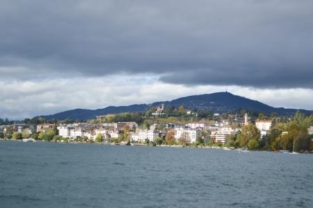 montreux: View of Montreux, Geneva lake, Switzerland.