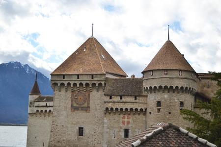 chillon: Chillon Castle near Montreux, Switzerland
