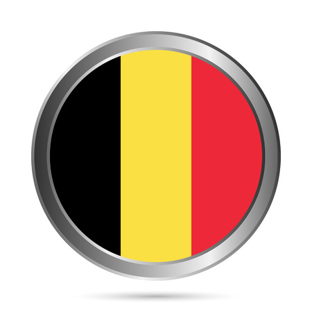 Belgium flag button on a white . The colors of the original. Vector illustration. Stock Vector - 24078872