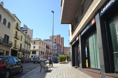 Figueras, Spain - June 24, 2013: Street in the center of the Catalan town of Figueres, Spain.