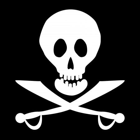 deathly: Jolly Roger flag  Vector illustration  Illustration