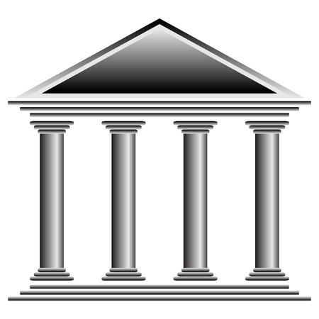 흰색 배경에 - 벡터 일러스트 은행 아이콘입니다.