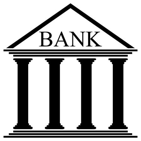 bank building: Bank icon on white background - vector illustration. Illustration