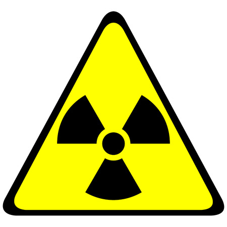 Radiation triangular sign - vector illustration. Stock Vector - 24442079