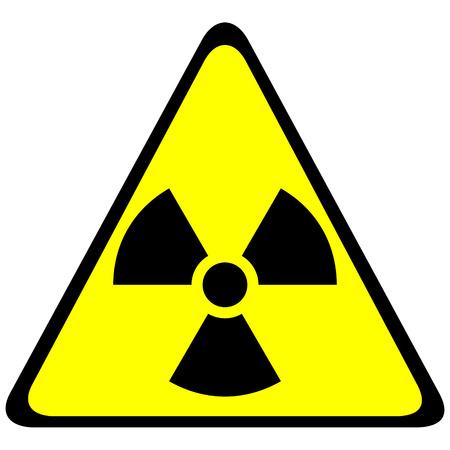 threat: Radiation triangular sign - vector illustration.