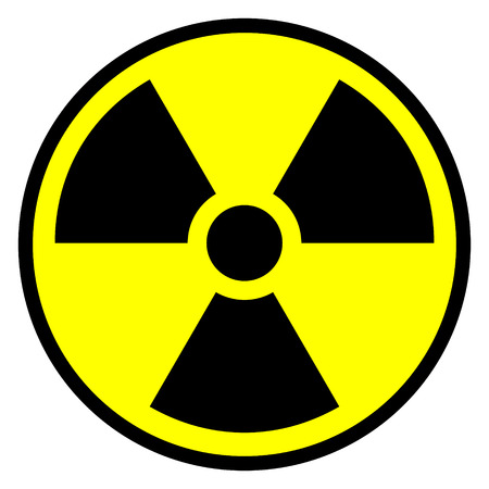 Radiation round sign - vector illustration. Stock Vector - 24442080