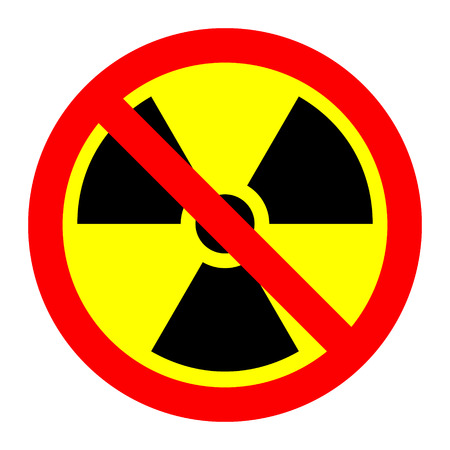 Prohibition of radiation - vector illustration.