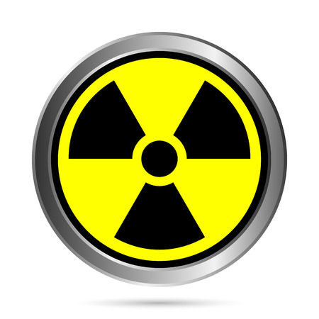 Radiation round button - vector illustration. Vector