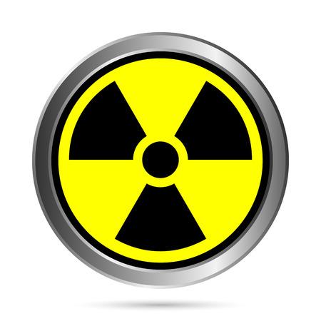 Radiation round button - vector illustration. Stock Vector - 24442084