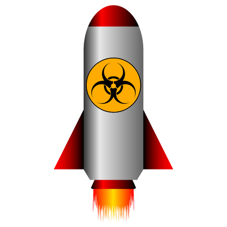 Biohazard rocket on white background - vector illustration. Stock Vector - 24601591