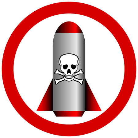 terribly: No chemical weapon sign on white - vector illustration.