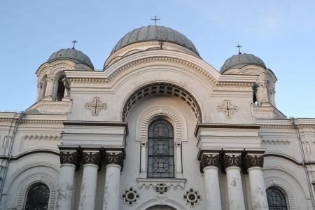 kaunas: St. Michael the Archangel church at evening, Kaunas, Lithuania.
