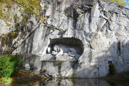 Famous lion monument in Lucerne, Switzerland. Stock Photo - 24884216