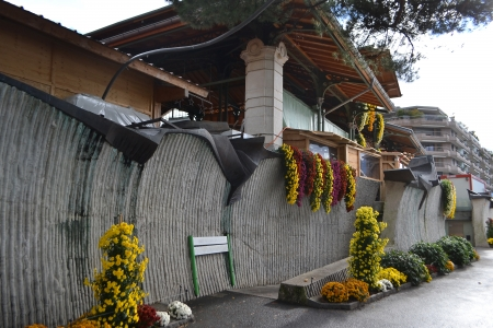 montreux: Building on the embankment of Montreux, Switzerland.