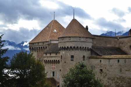 Chillon Castle near Montreux, Switzerland.
