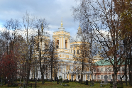 classicism: Alexander Nevsky Lavra, ancient monastery in Classicism style in center of St.Petersburg, Russia.