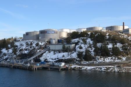 Stockholm, Sweden - April 11, 2013: Oil storage on the outskirts of Stockholm, Sweden.