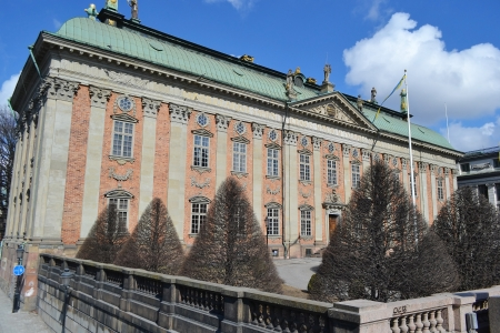 View of old palace in Stockholm, Sweden.