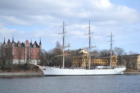 sailer: Historical ship AF Chapman in Stockholm, Sweden.