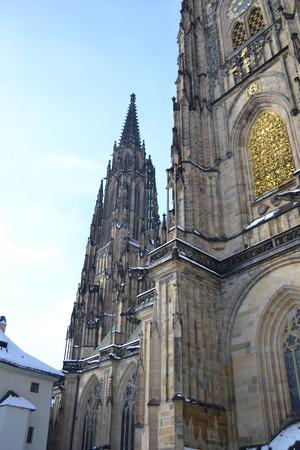 vitus: St. Vitus cathedral in Prague, Czech republic. Stock Photo
