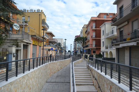 rimini: Rimini, Italy - February 15, 2014: Street in the modern part of Rimini.