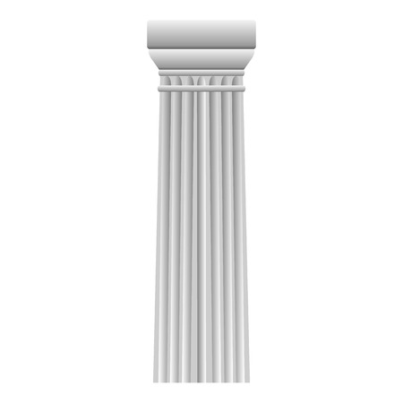 doric: Doric column on white background.