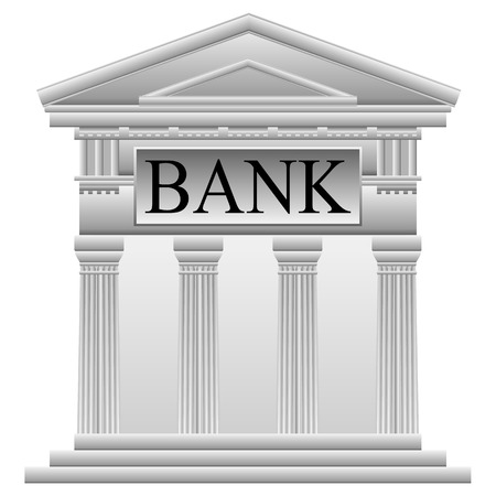 doric: Bank icon on white background.