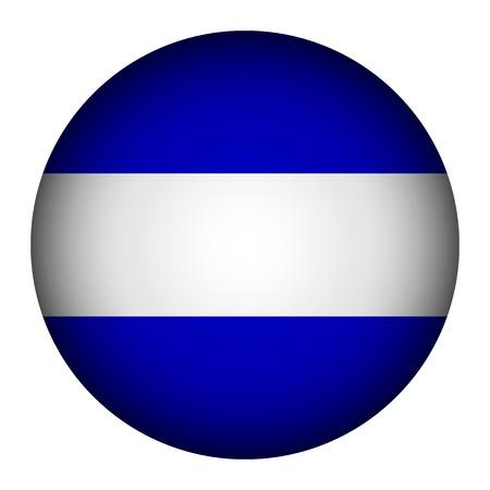 El Salvador flag button on a white background. Vector illustration. Illustration