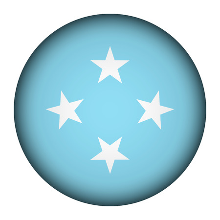 federated: Federated States of Micronesia flag button on a white background. Vector illustration.