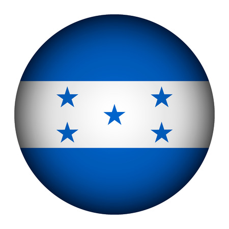 Honduras flag button on a white background. Vector illustration. Vector