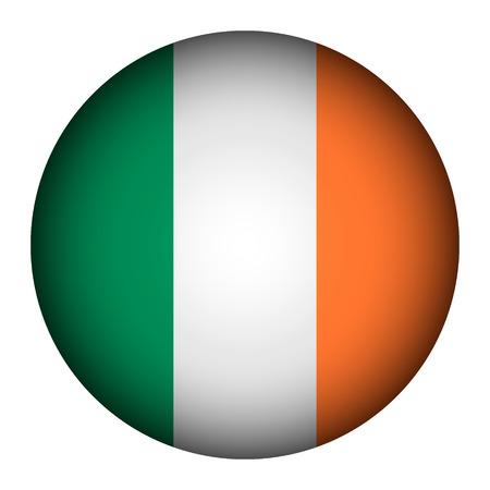 ireland flag: Ireland flag button on a white background. Vector illustration. Illustration