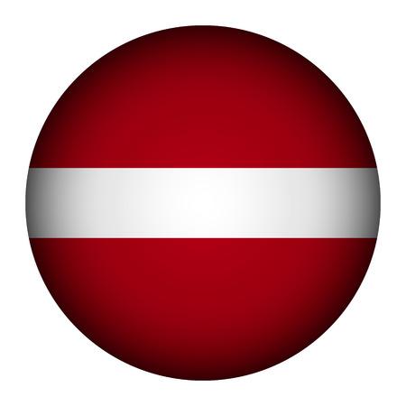 carmine: Bot�n de la bandera de Letonia sobre un fondo blanco. Ilustraci�n del vector.