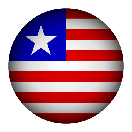 liberia: Liberia flag button on a white background. Vector illustration.