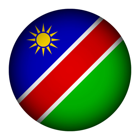 Namibia flag button on a white background. Vector illustration. Vector