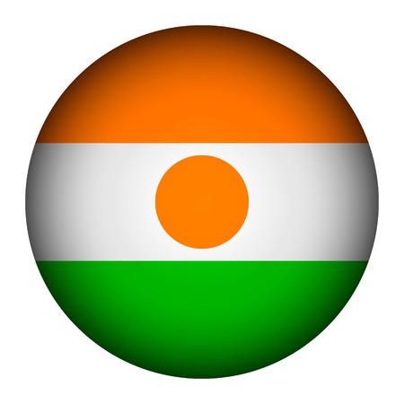 niger: Niger flag button on a white background. Vector illustration. Illustration