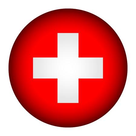 Schweizer Flagge Taste auf einem weißen Hintergrund. Vektor-Illustration. Standard-Bild - 26637185