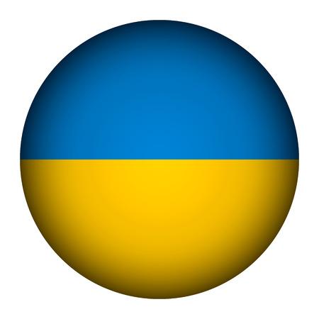 Ukraine flag button on a white background. Vector illustration. Stock Vector - 26616810