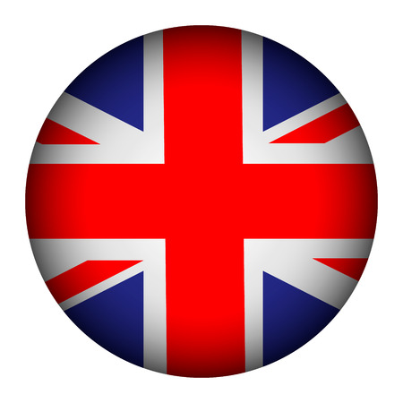 United Kingdom flag button on a white background. Vector illustration. Stock Vector - 26616816