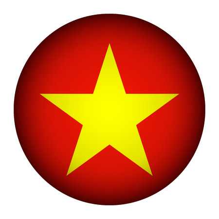 Vietnam flag button on a white background. Vector illustration. Stock Vector - 26616822