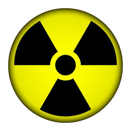 Radiation round button illustration. Illustration