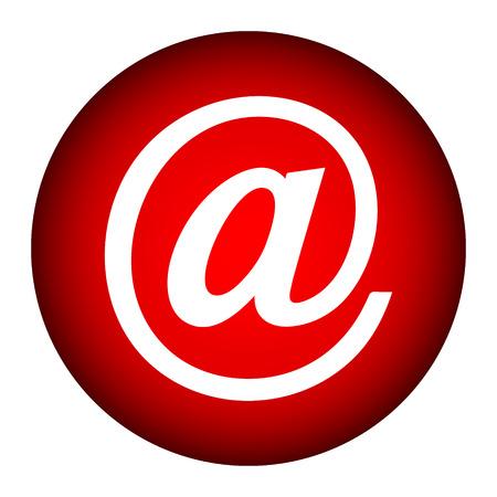 Email icon on white background Illustration