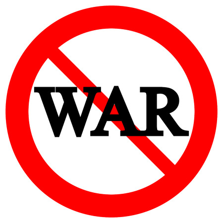 no war: No war sign on white background.