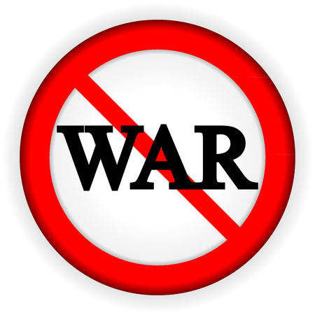 No war sign on white background. Vector