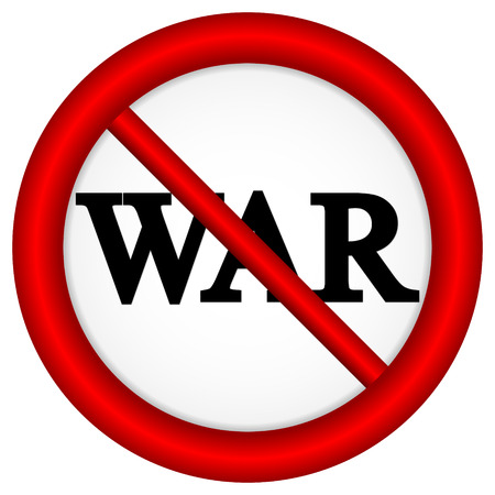 No war sign on white background. Stock Vector - 26709843