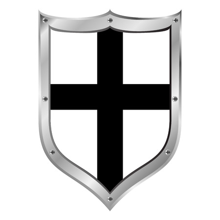 teutonic: Shield medieval Teutonic Order on white background.