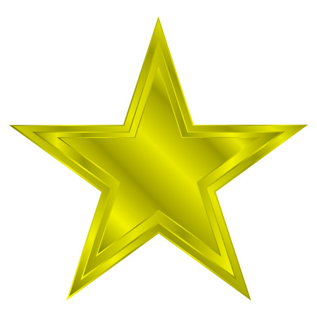 gold star: Gold star on white background