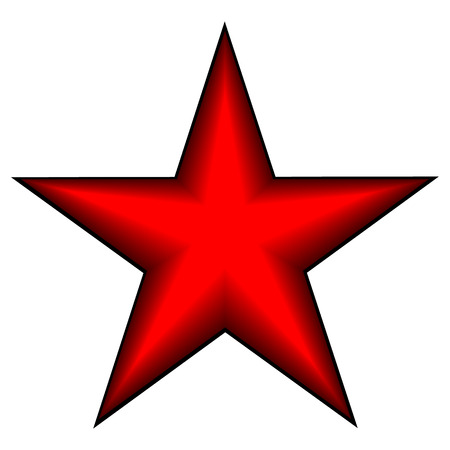 red star on white Vector